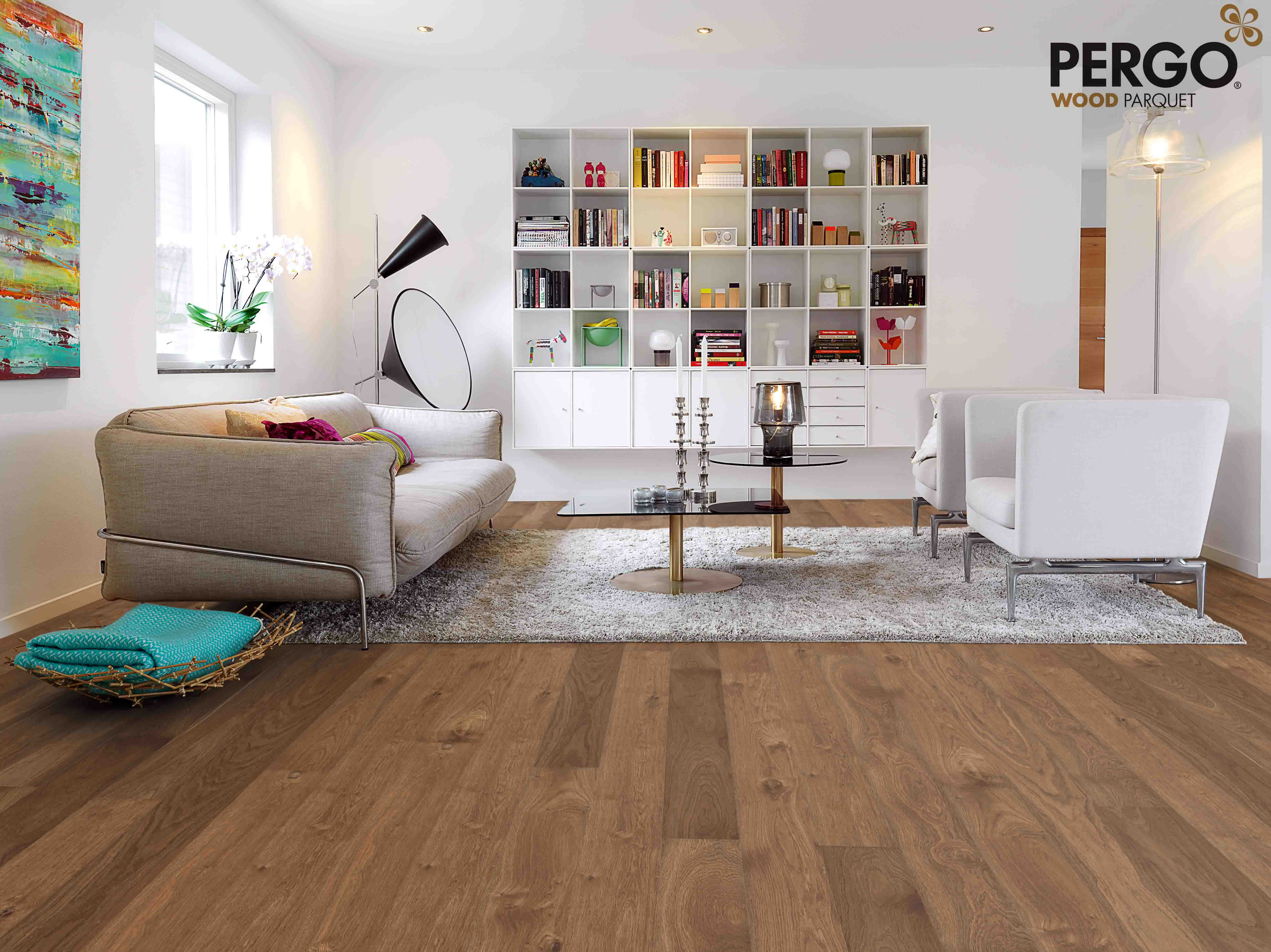 Step In Style On Pergo Wood Parquet Flooring
